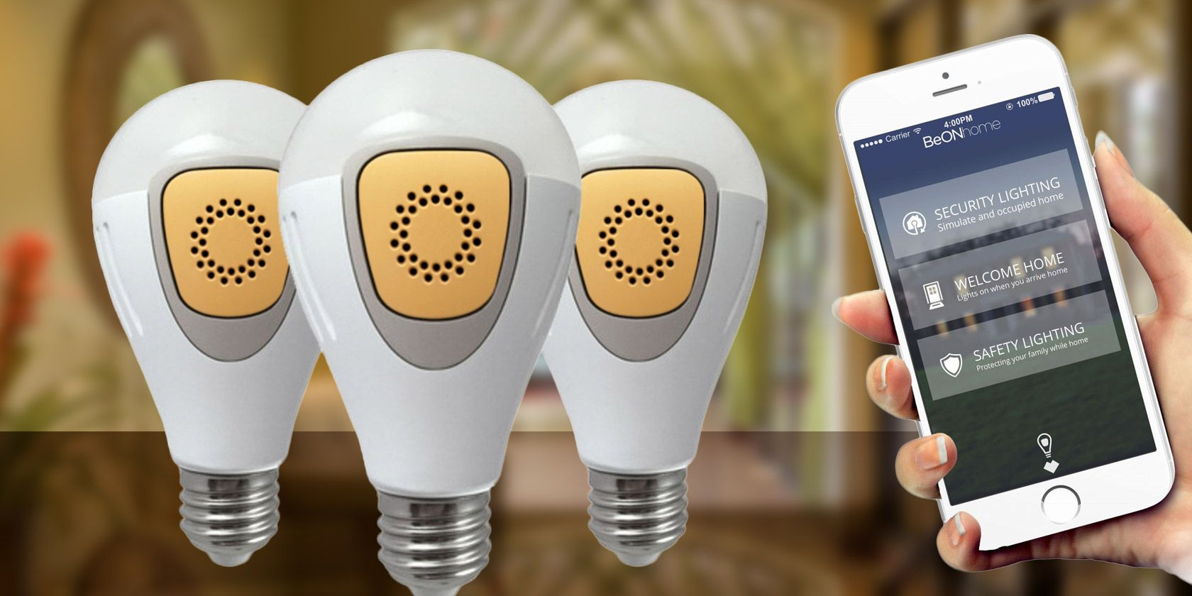 Smart LED BeON Bulbs can Protect your Home from Burglars