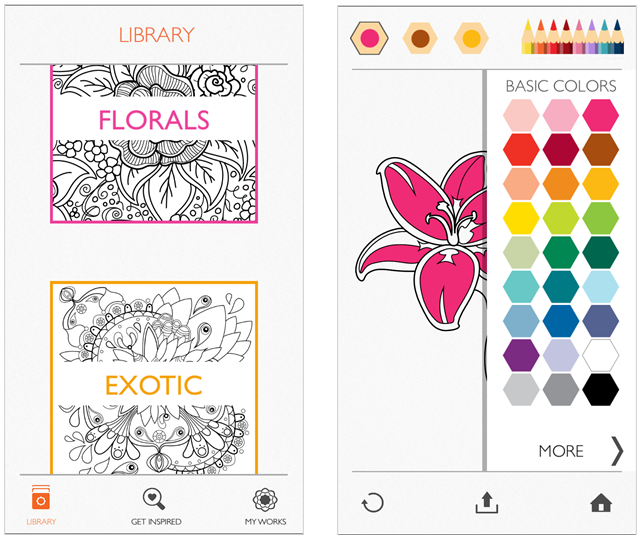 De-Stress On The Go With IPhone Coloring Apps