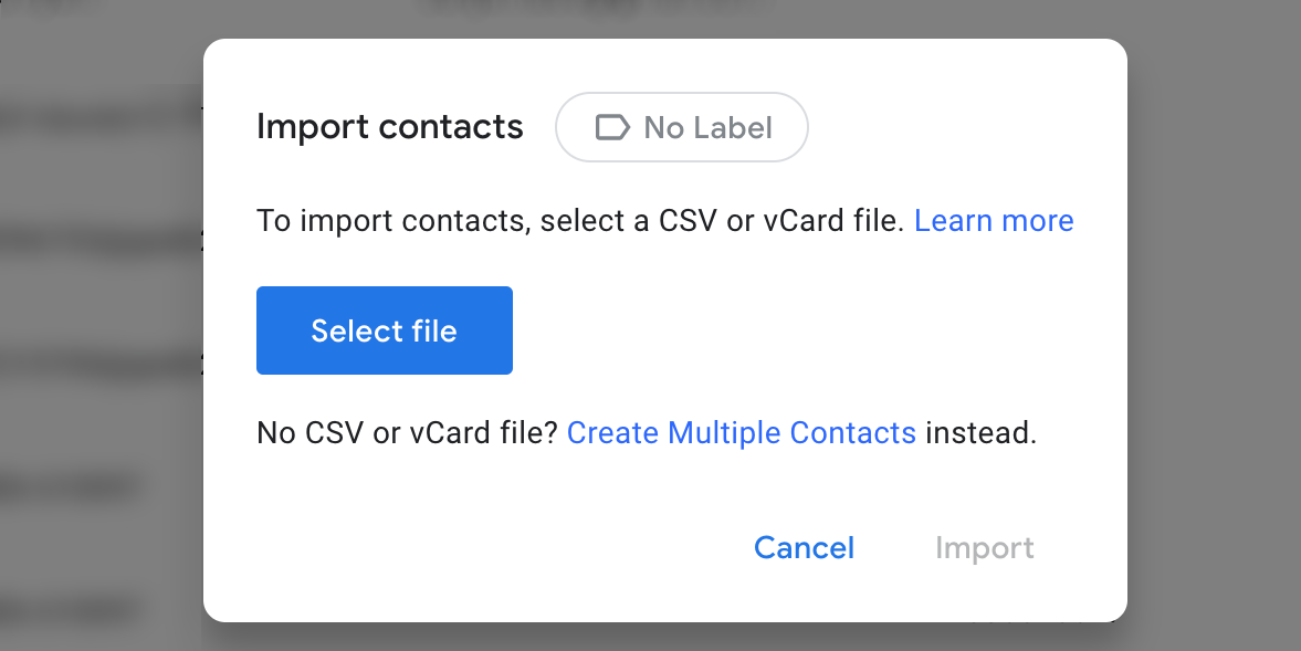 import iphone contacts to google