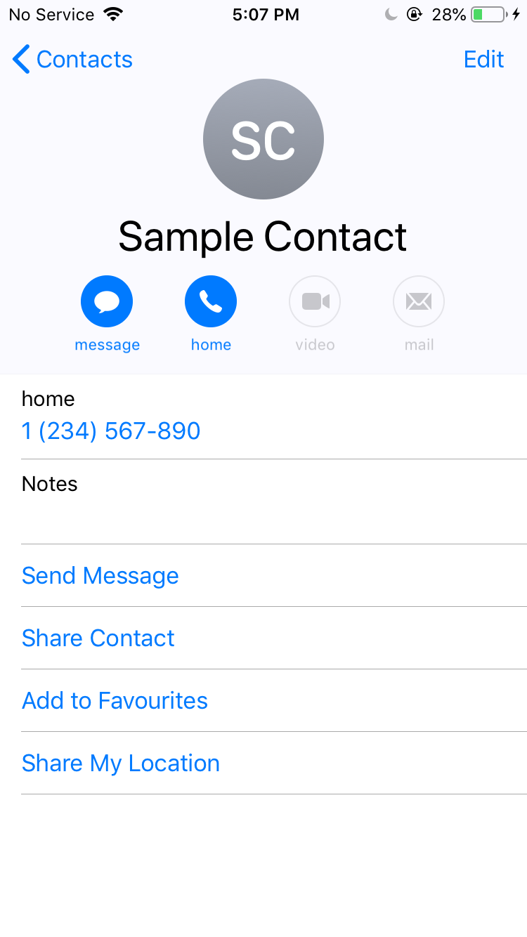 share iphone contacts