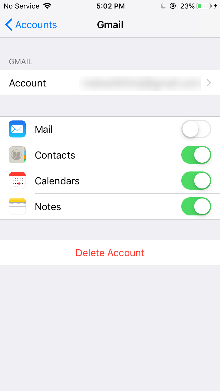 enable google sync on iphone