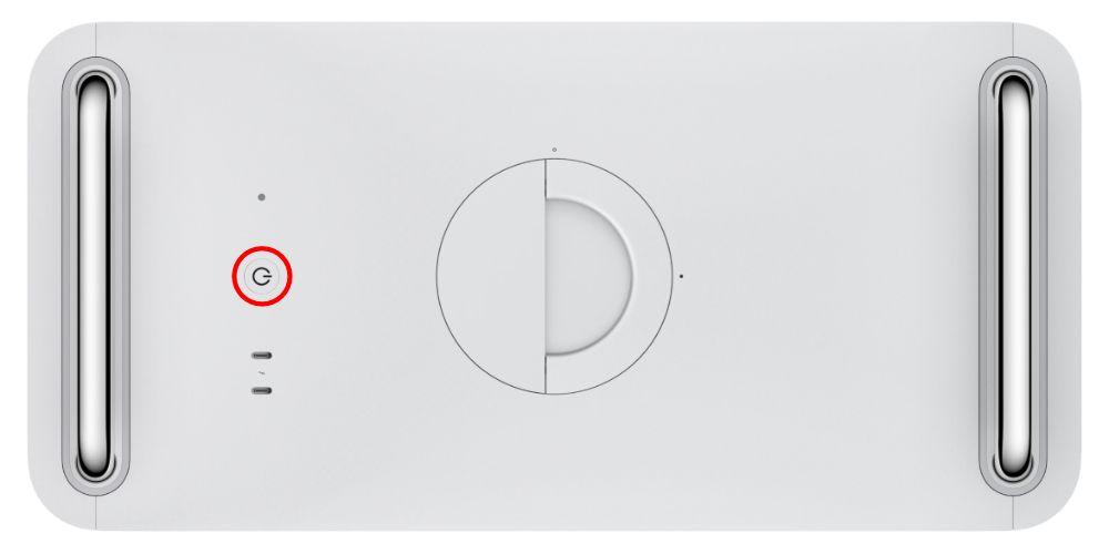 Botão de alimentação do Mac Pro