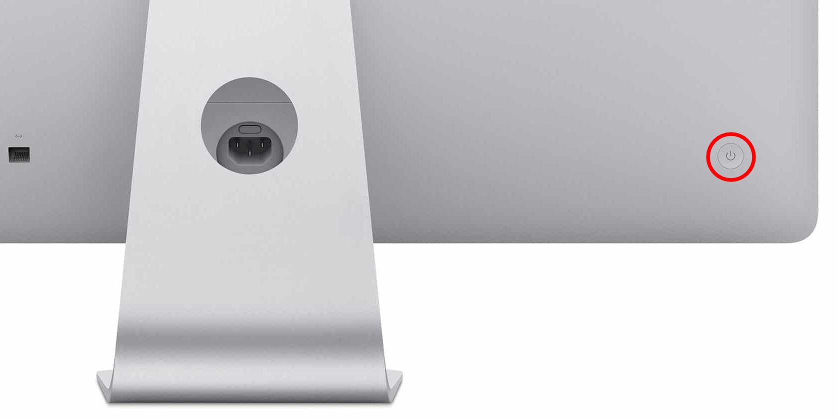 botão de alimentação do iMac