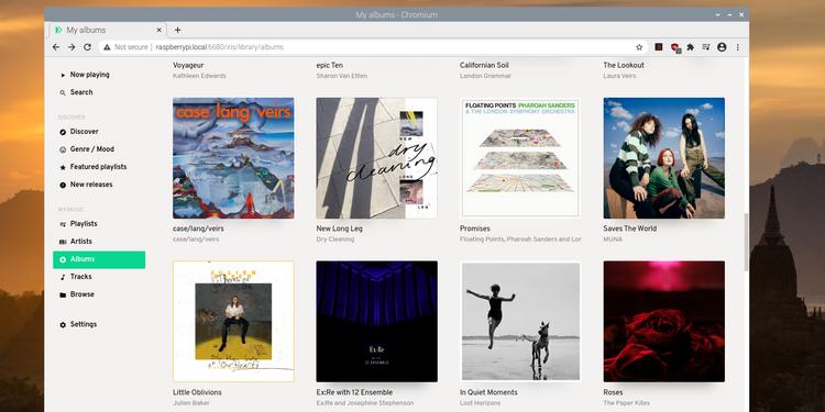 Modipy music web interface