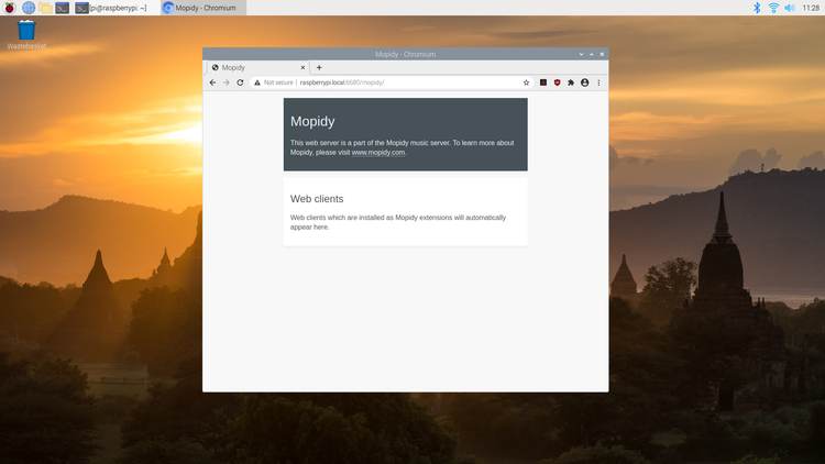 Mopidy web interface without UI