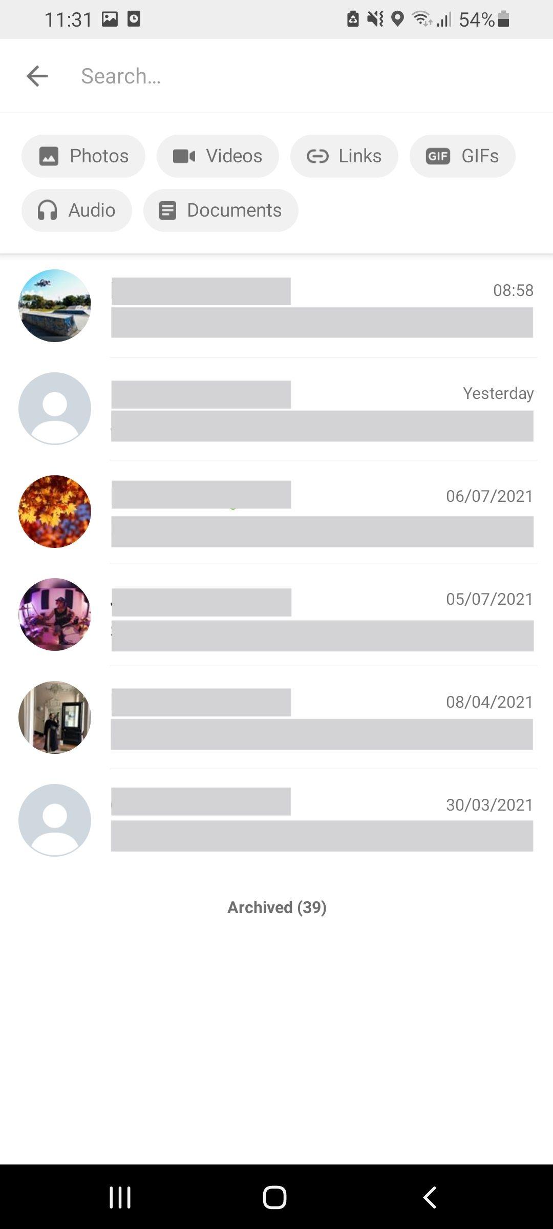 Whatsapp search