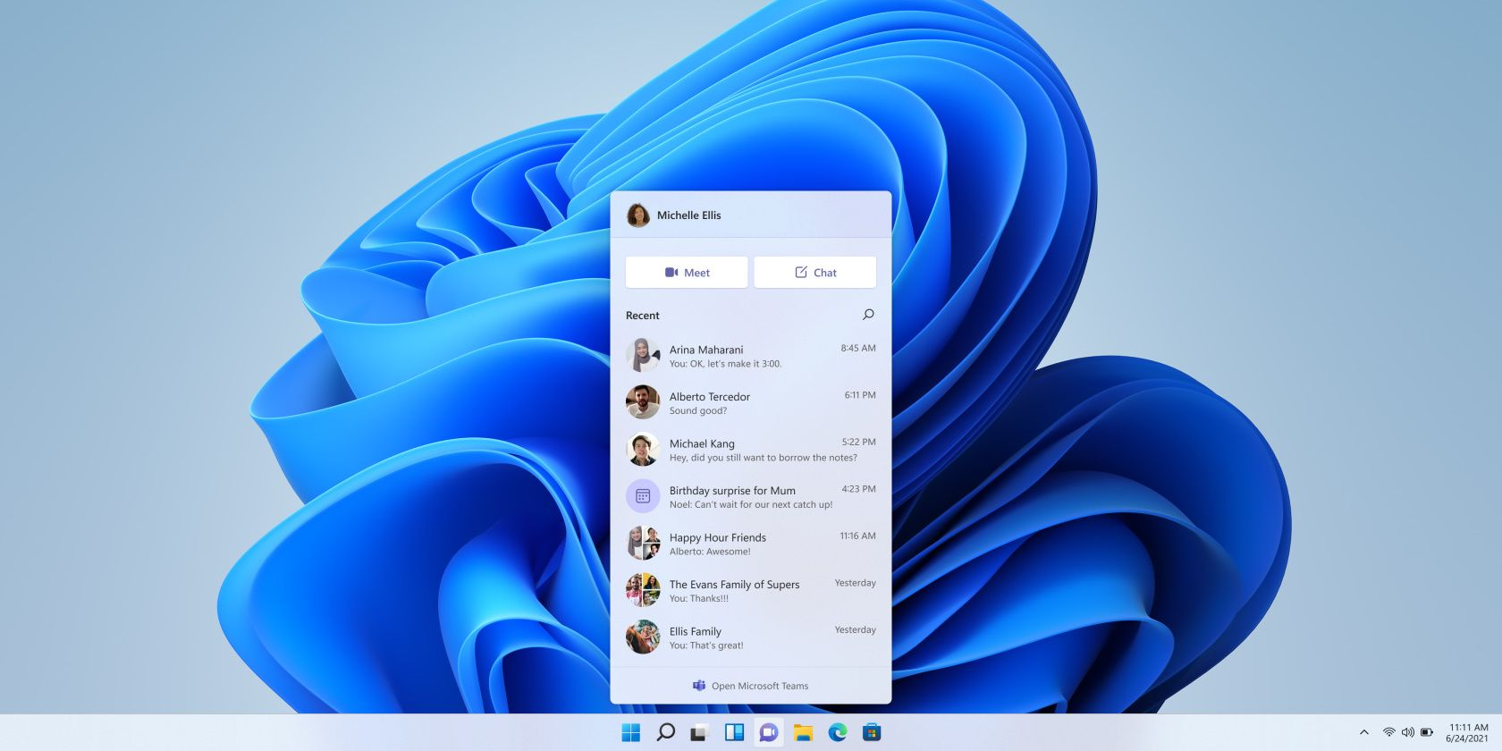 New Windows 11 Insider Preview Update Delivers Microsoft Teams Chat Preview