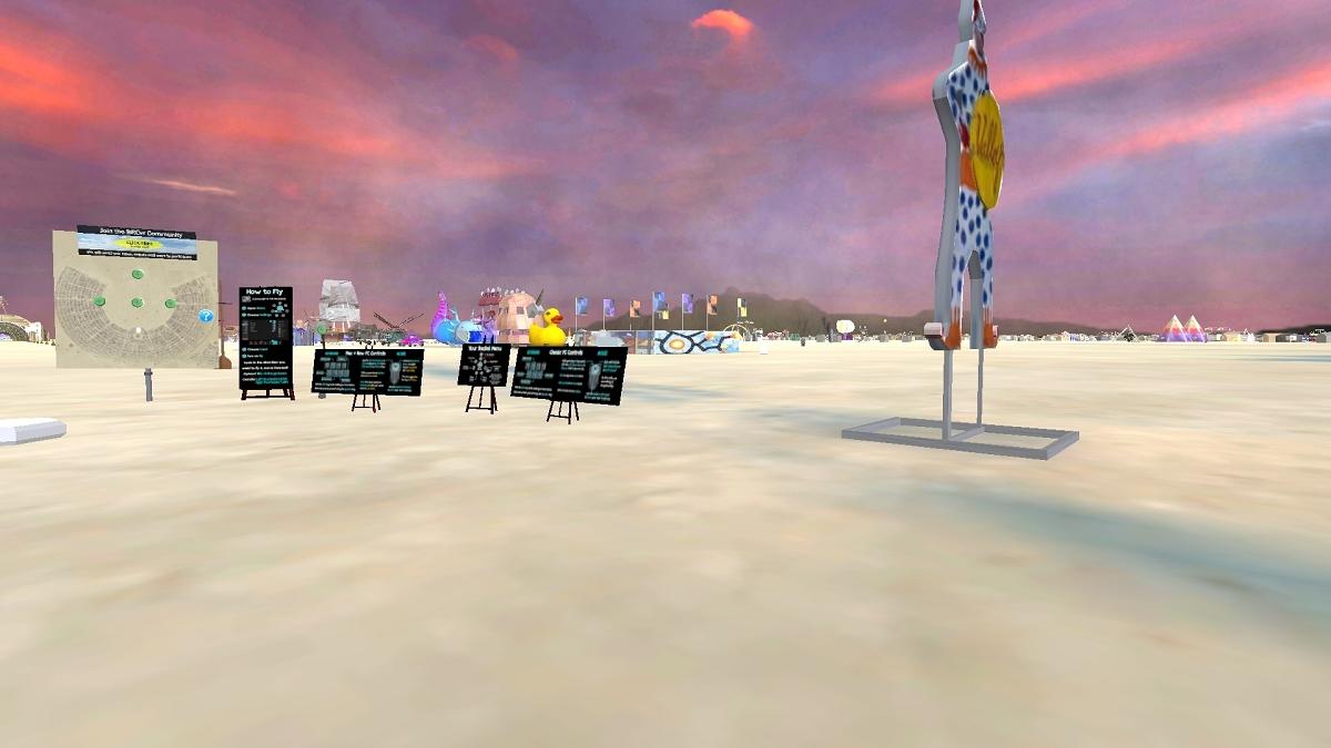 The 2021 virtual Burning Man world