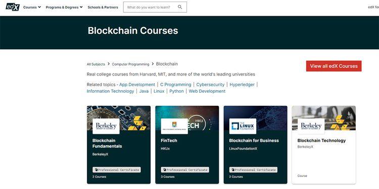 دورات في تقنية البلوكشين Blockchain