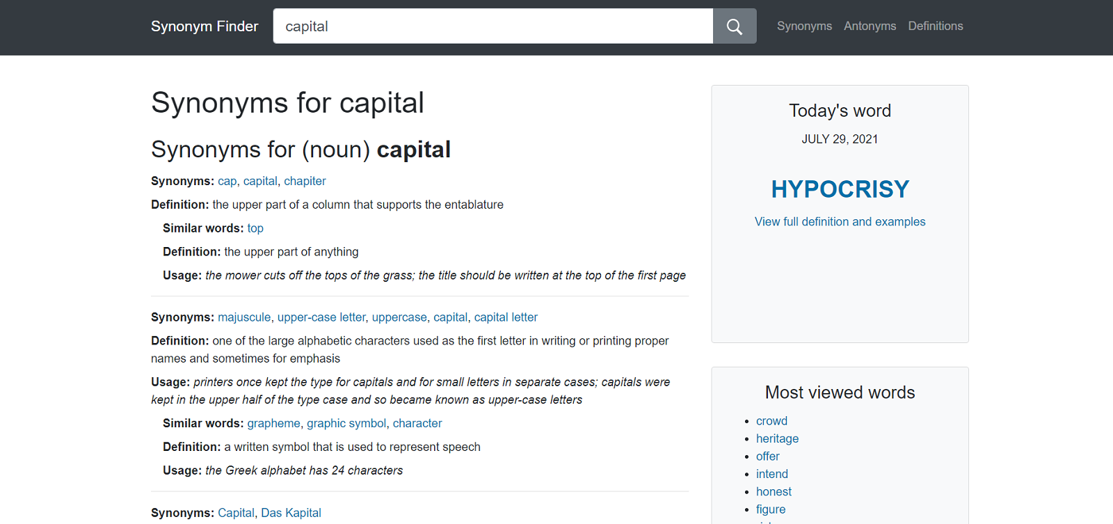 20 Online Synonym Dictionaries To Help You Find A Similar Word